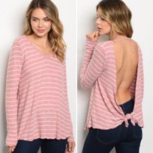 Pink & White Striped Top